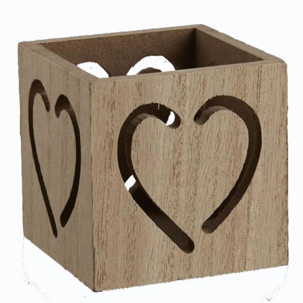 Μπομπονιέρα Γάμου Ξύλινη Καρδιά Ρεσώ